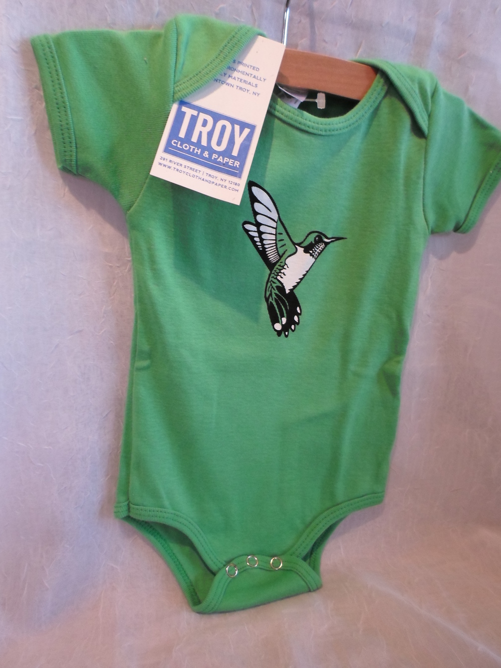 Troy Cloth & Paper Hummingbird Bodysuit 3-6m $16.00 Wants 1 PURCHASED