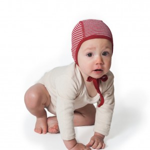 Hocosa Organic Merino Wool Pilot Cap in Red Stripe size 0-6m $19 Wants 1 PURCHASED