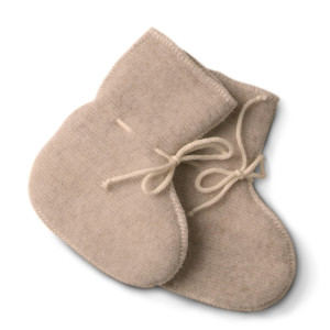 LanaCare Organic Merino Wool Booties size 0-4m in soft sand $31.50 Wants 1 PURCHASED