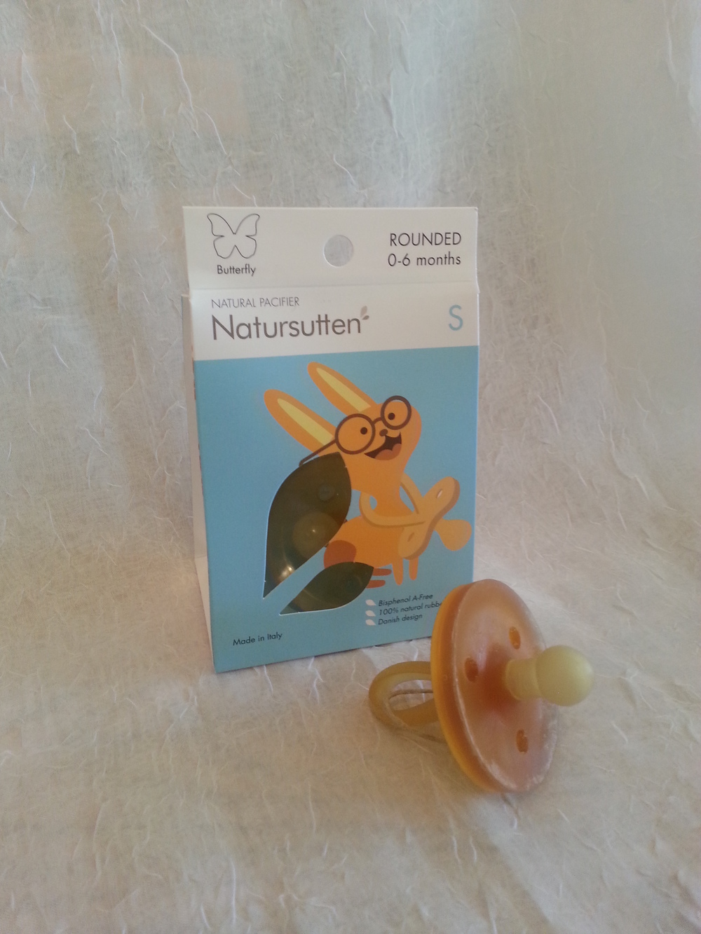Natursutten Pacifier -Round Nipple size small    $8.95    Wants 1 PURCHASED