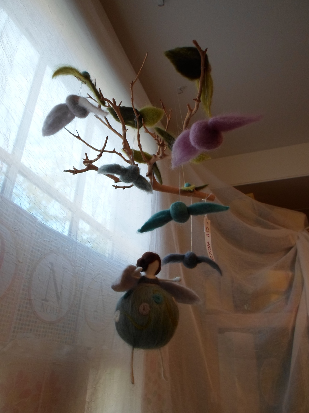 Wool Felted Fairy and Bird Mobile    Locally Handmade & one of a kind   $85.00    Wants 1 PURCHASED