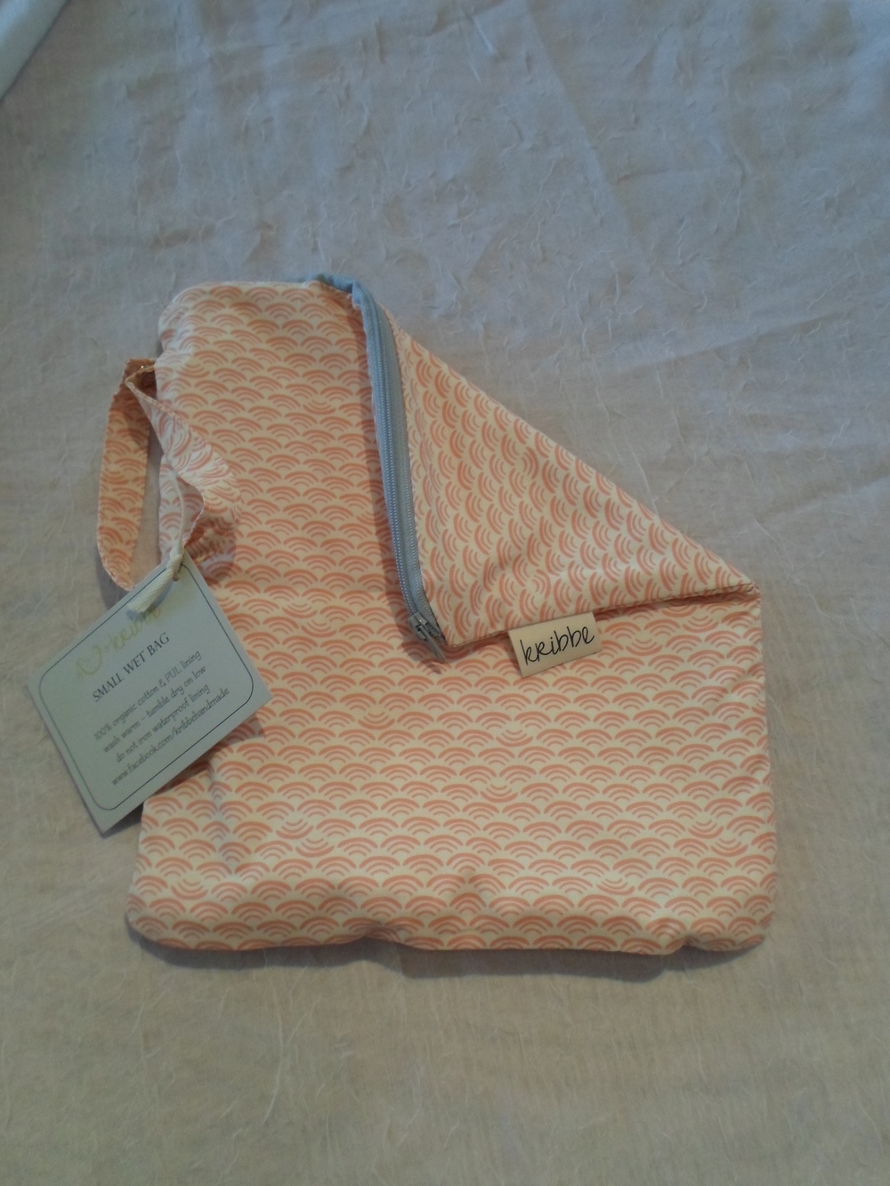 Kribbe Organic Travel Wet Bag size Small  Locally Handmade $18.00 Wants 1 PURCHASED