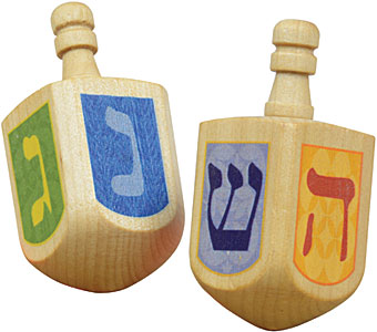 Wooden Dreidel  (made in the USA)   $3.00    Wants 1