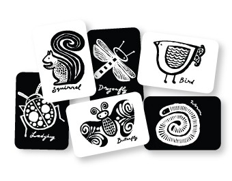 Wee Gallery Black and White Card Set - Garden $12.95 Wants 1 PURCHASED