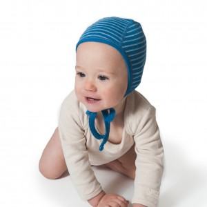Hocosa Organic Merino Wool Pilot Cap in Blue Stripe size 0-6m $19 Wants 1 PURCHASED