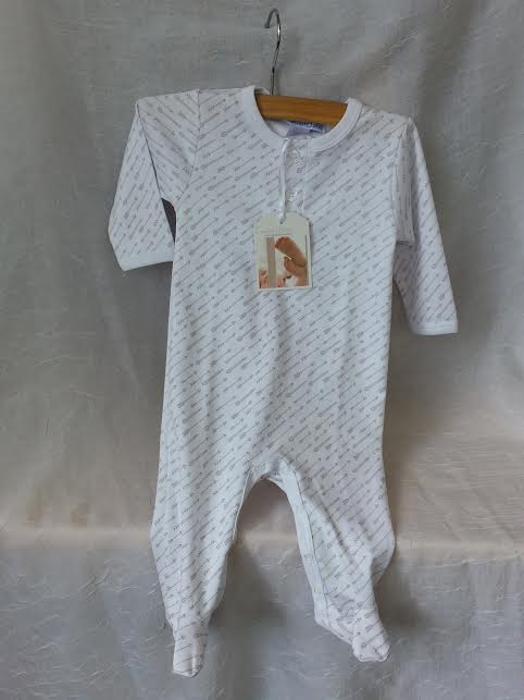 Feather Baby Pima Cotton Footed Romper in 6-9m    $36.95    wants 1