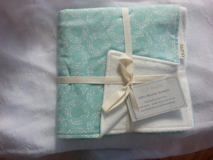 Kribbe Organic Blanket   in Your Choice of Fabric  -Locally Handmade   $54.95    Wants 1