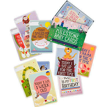 Milestone Baby Cards (document all your babies firsts)    $25.95    Wants 1  purchased