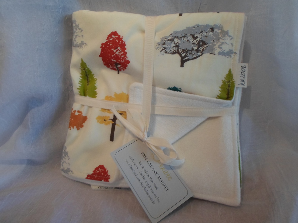 Kribbe Organic Blanket in Trees -Locally Handmade $54.95 Wants 1 purchased