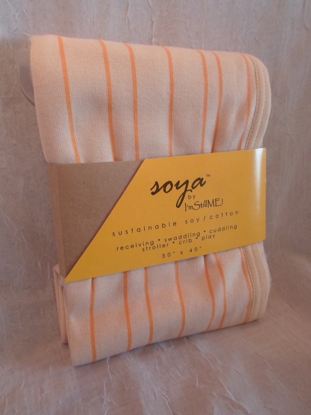 "Soya Blanket (30""x40"") in Orange    $29.95    Wants 1  purchased"