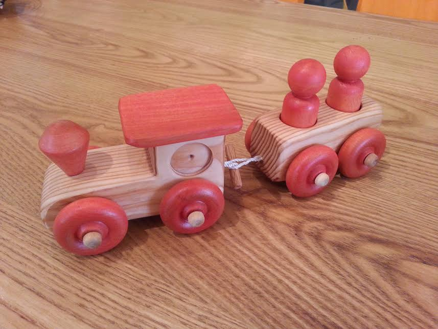 Wooden 2 Car Train -  Locally Handmade   $19.95 ea    Wants 1