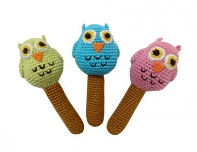 Cheengoo Organic Bamboo Blue Owl Rattle    $10.95    Wants 1  purchased