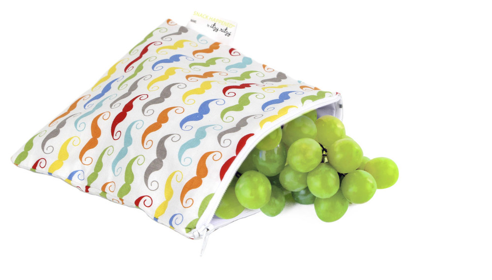 Itzy Ritzy Snack Bags in Mustache $12.95 Wants 1