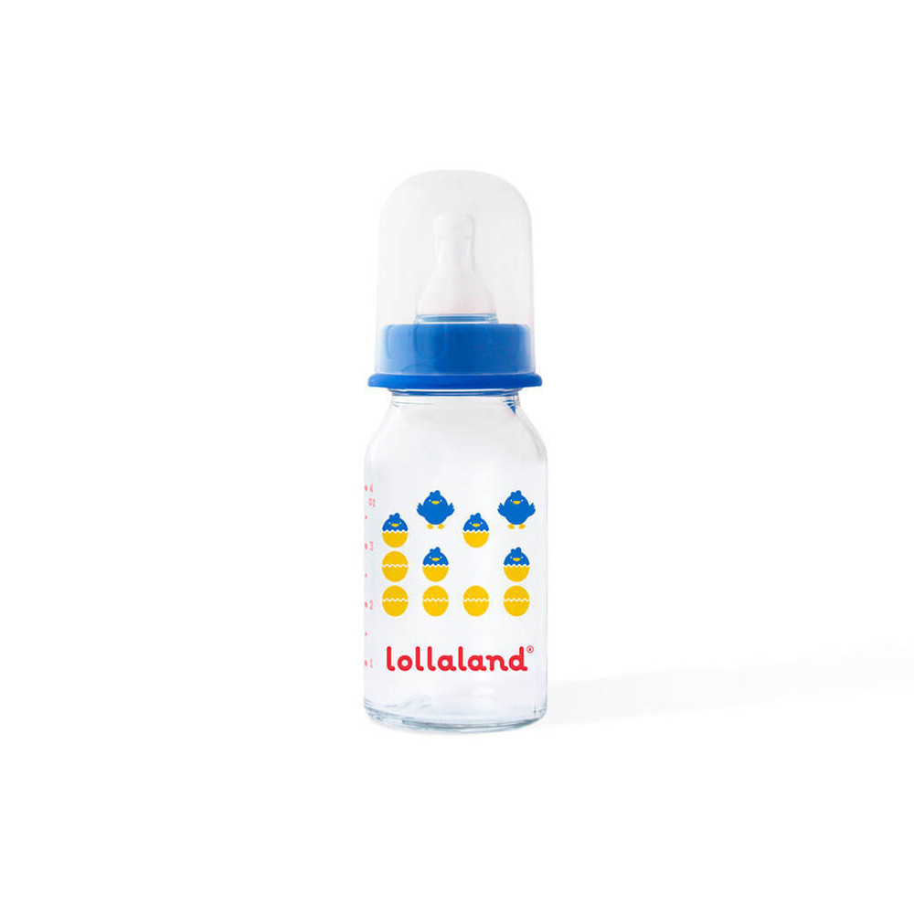 Lollaland Glass Bottle 4oz in Blue $13.00 Wants 1