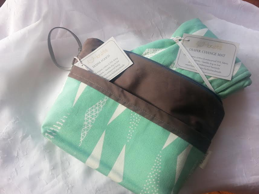 Kribbe Travel Diaper Pouch and Changing Pad (Your choice of print - locally handmade) $57.95 Wants 1 purchased