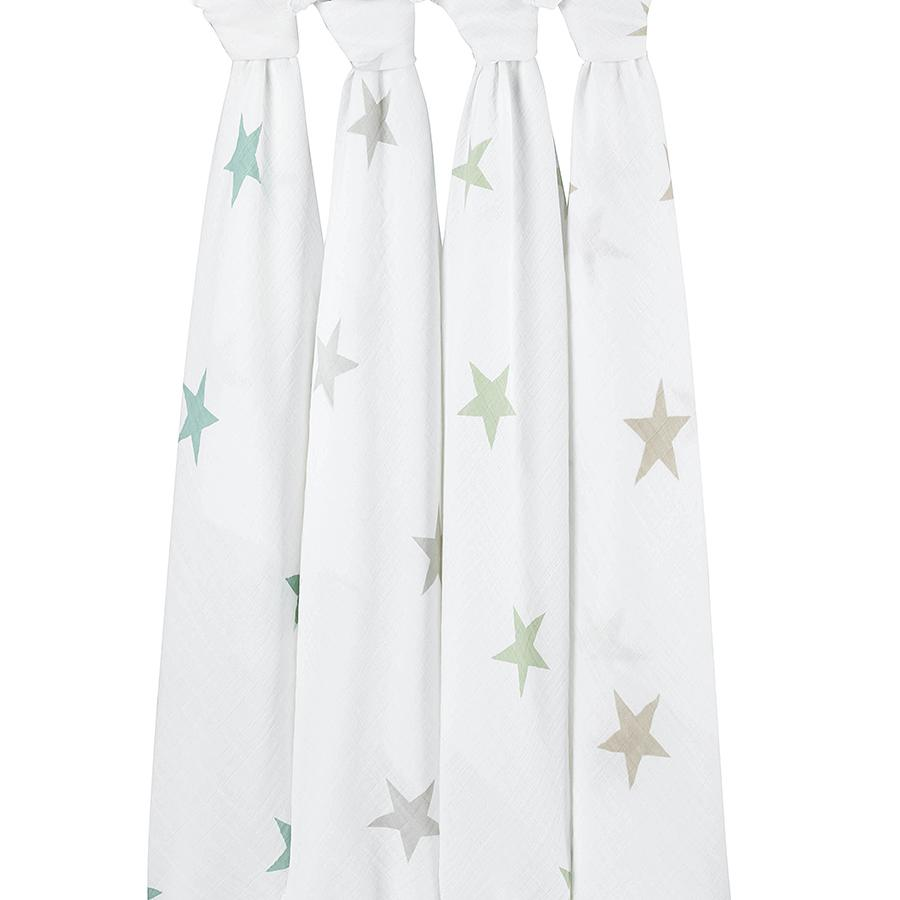 Aden & AnaisMuslin Swaddles (set of 4) in Scout Stars $49.95 Wants 1PURCHASED