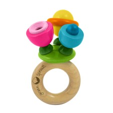 Green Sprouts Wooden Flower Rattle $19.95 Wants 1