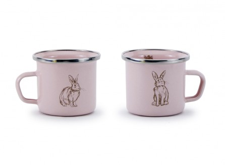 Golden Rabbit Enamelware Baby Mug in Pink Bunnies $9.95 Wants 1