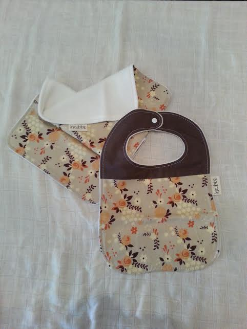 Kribbe Organic Bib and Burp set  locally handmade $27.00 Wants 1 purchased