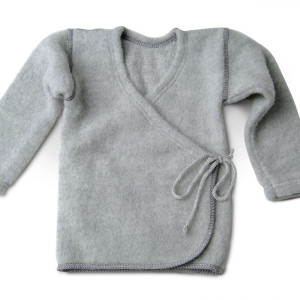 LanaCare Organic Merino Wool Wrap Sweater in Grey 0-3m $57.00 Wants 1