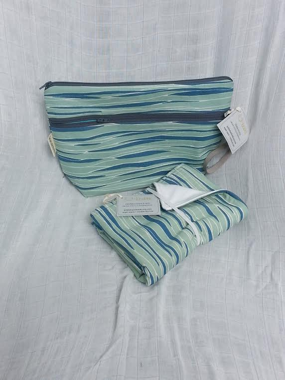 Kribbe Organic Diaper Pouch and Changing pad Set -Locally handmade $57.95 Wants 1