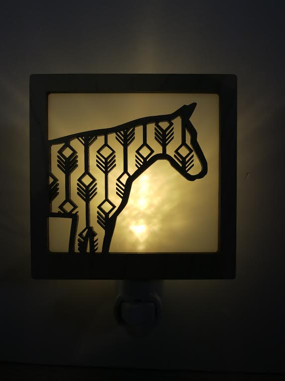 Tiny Little Nest Laser Cut Horse Nightlight  local artist   $30.00    Wants 1  purchased