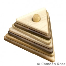 Camden Rose Hardwood Triangle Stacker   Made in USA   $24.95    Wants 1  purchased