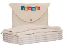 Bummis Organic Cotton Prefold Diapers 6pk $9.95 Wants 1 purchased