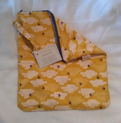 Kribbe Organic Cotton Small Wet Bag (your choice of pattern)    Locally Handmade   $18.00    Wants 1