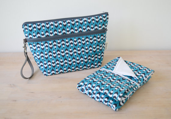 Kribbe Organic Cotton Diaper Pouch and Changing Mat set (your choice of pattern)    Locally Handmade   $57.95    Wants 1