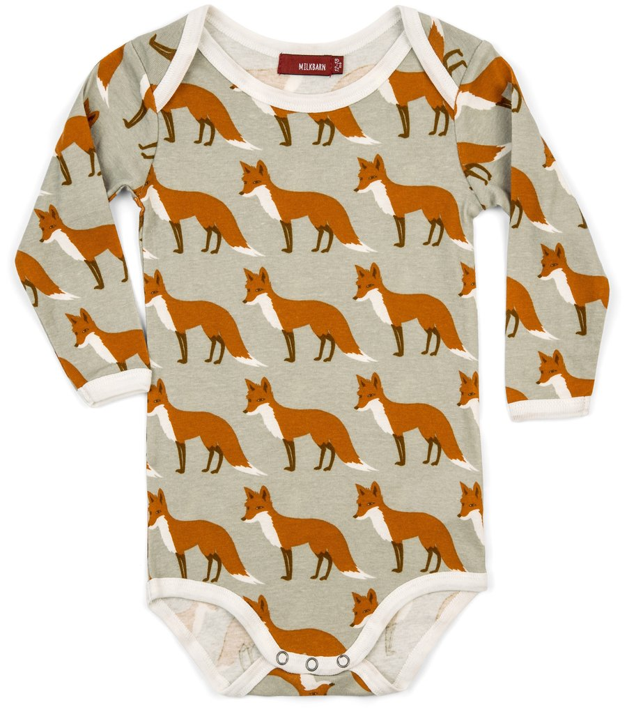 Milkbarn Organic Long Sleeve Onesie size 6-12m    $24.00    Wants 1   purchased