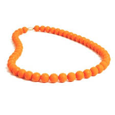 Chewbeads Jane Necklace in Orange    (parent wears - baby chews)   $29.50    Wants 1