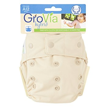 GroVia One Size Snap Diaper Cover in Vanilla    $16.95    Wants 1