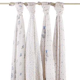 Aden & Anais Muslin Swaddles 4pk    $49.95    Wants 1
