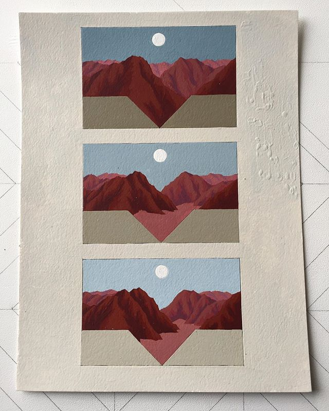 #geometricabstraction #painting #goldenratio #mountains #goldenpaints