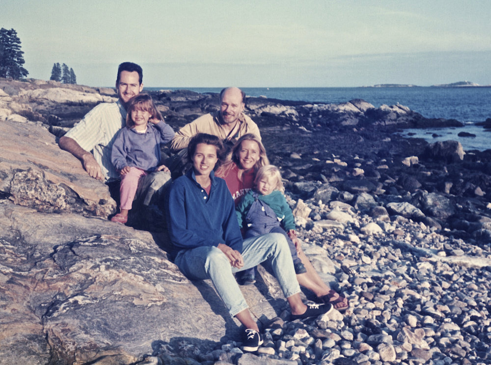 Our early family (1992) with Matt Kehoe and angel Weezie from UK at Ocean Point