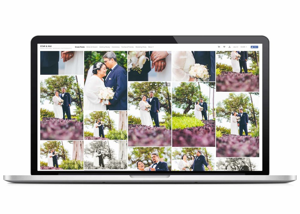 - ONLINE IMAGE DELIVERYAll of your high-resolution wedding images are delivered in a beautiful online gallery where you will be able to directly download and share them with family & friends.