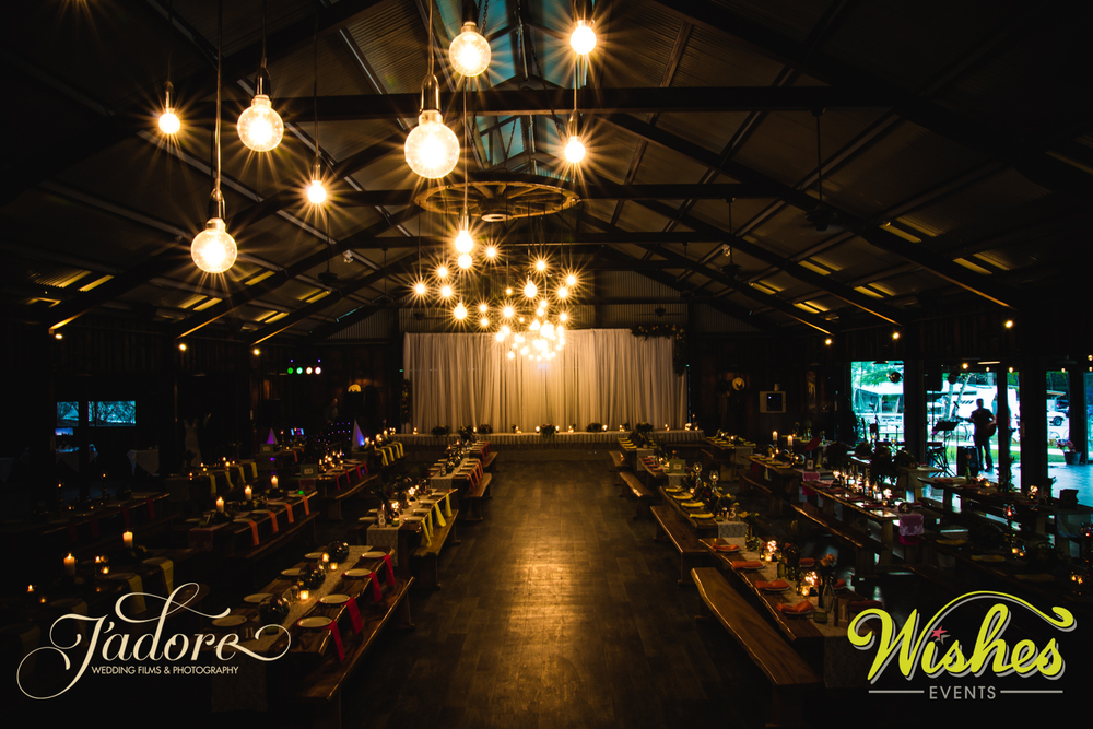 Wishes Events Wedding Reception Set up at Paradise Country Gold Coast