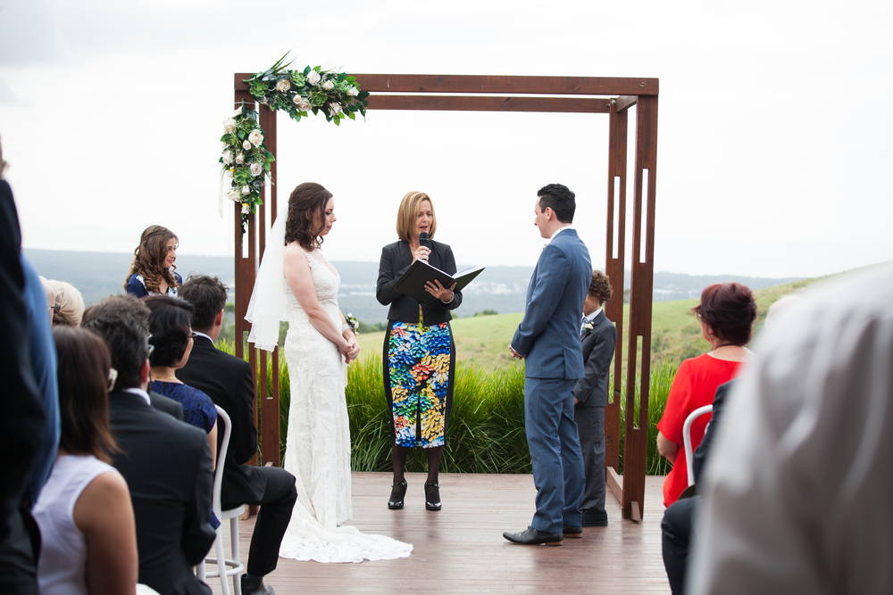The Ceremony archway held at Horizons.