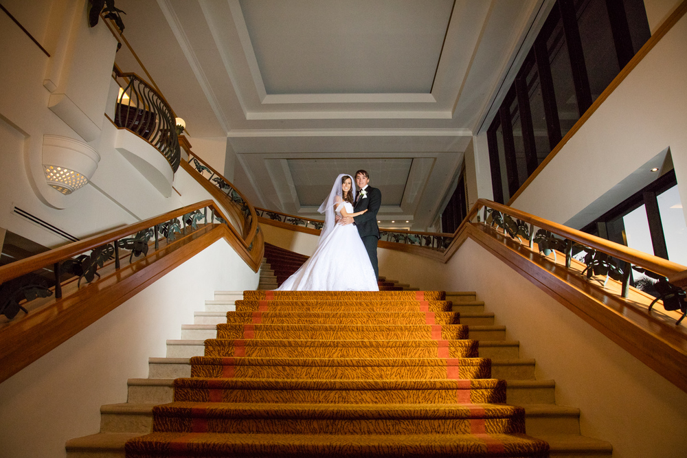 Grand Staircase image at the Marrott Resort Hotel and Spa by J'adore Wedding Films and Photography
