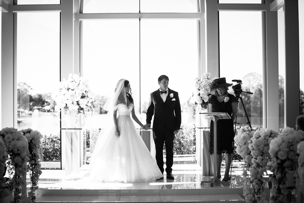 Black and White Wedding Gold Coast Photography