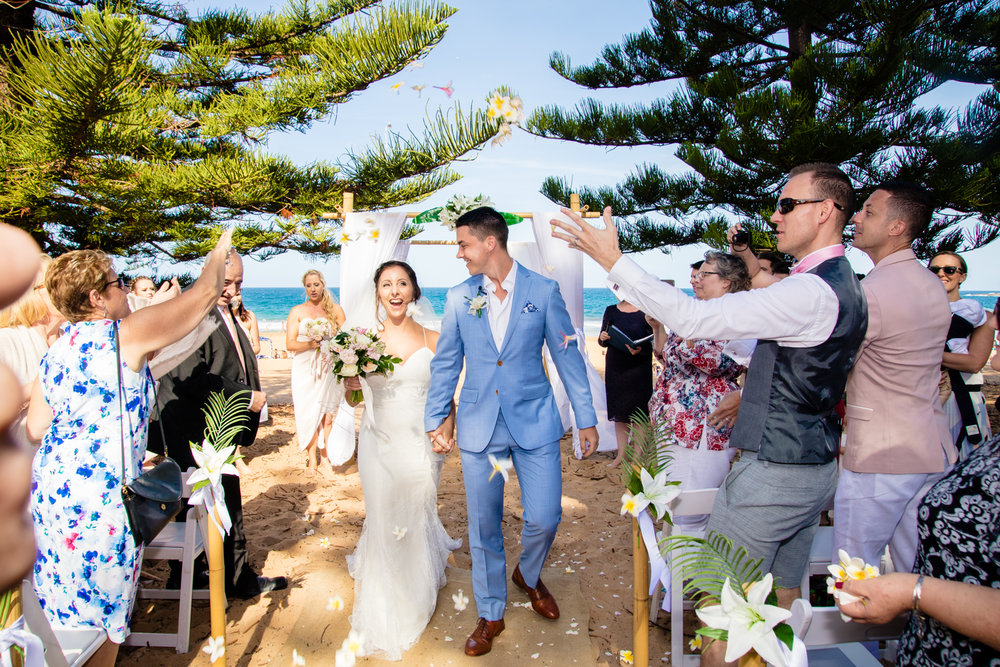 Whales beach wedding