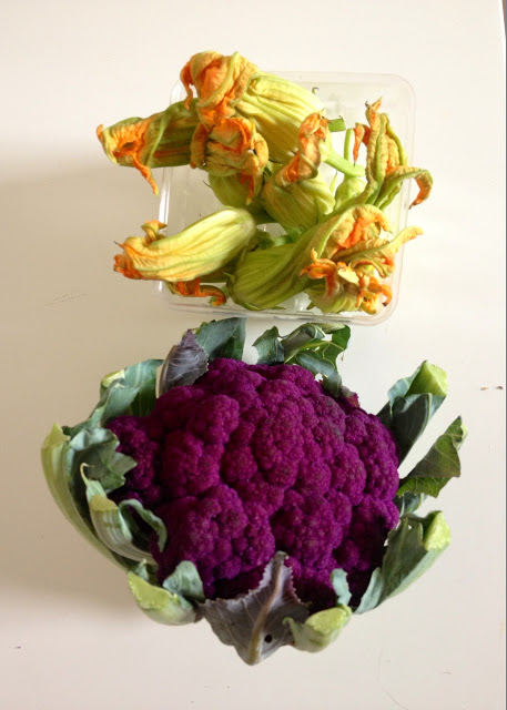 Graffiti Cauliflower and Squash Blossoms