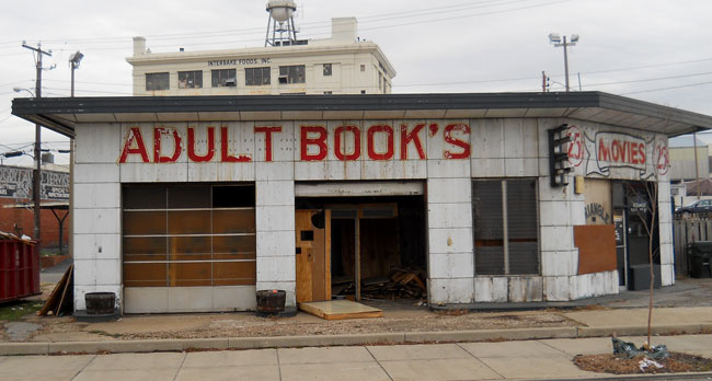 Before: Triangle Adult Bookstore.  Photo courtesy of Vintagerva.blogspot.com