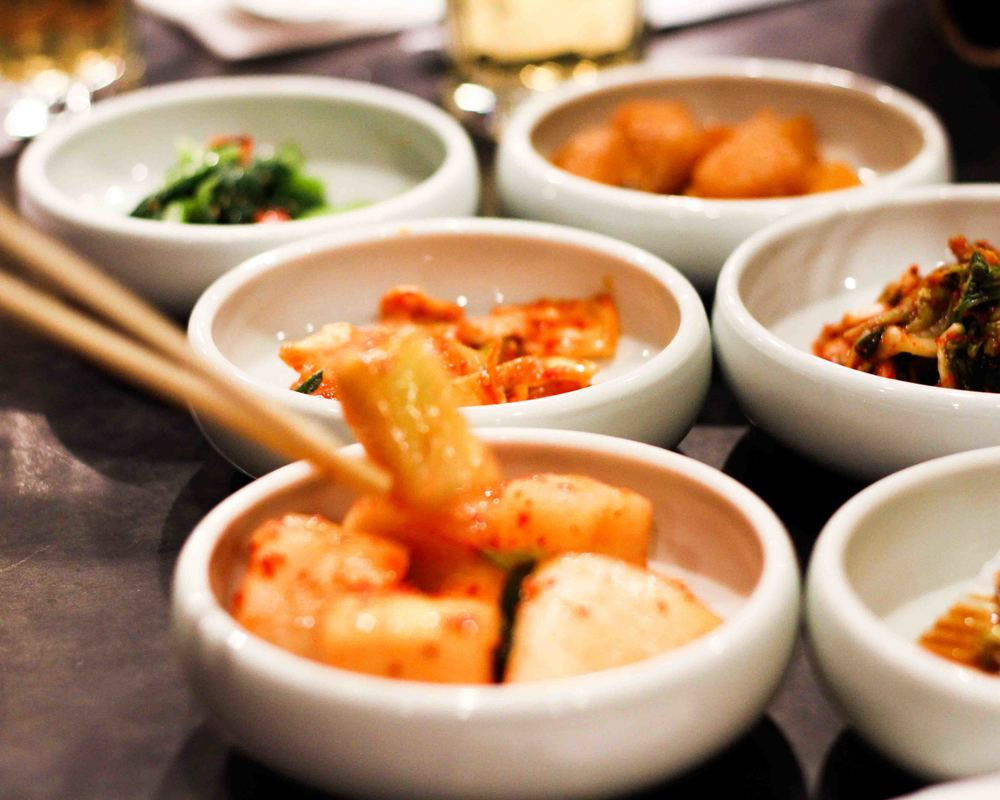 Yechon's banchans - complimentary Korean side dishes that are served with every meal