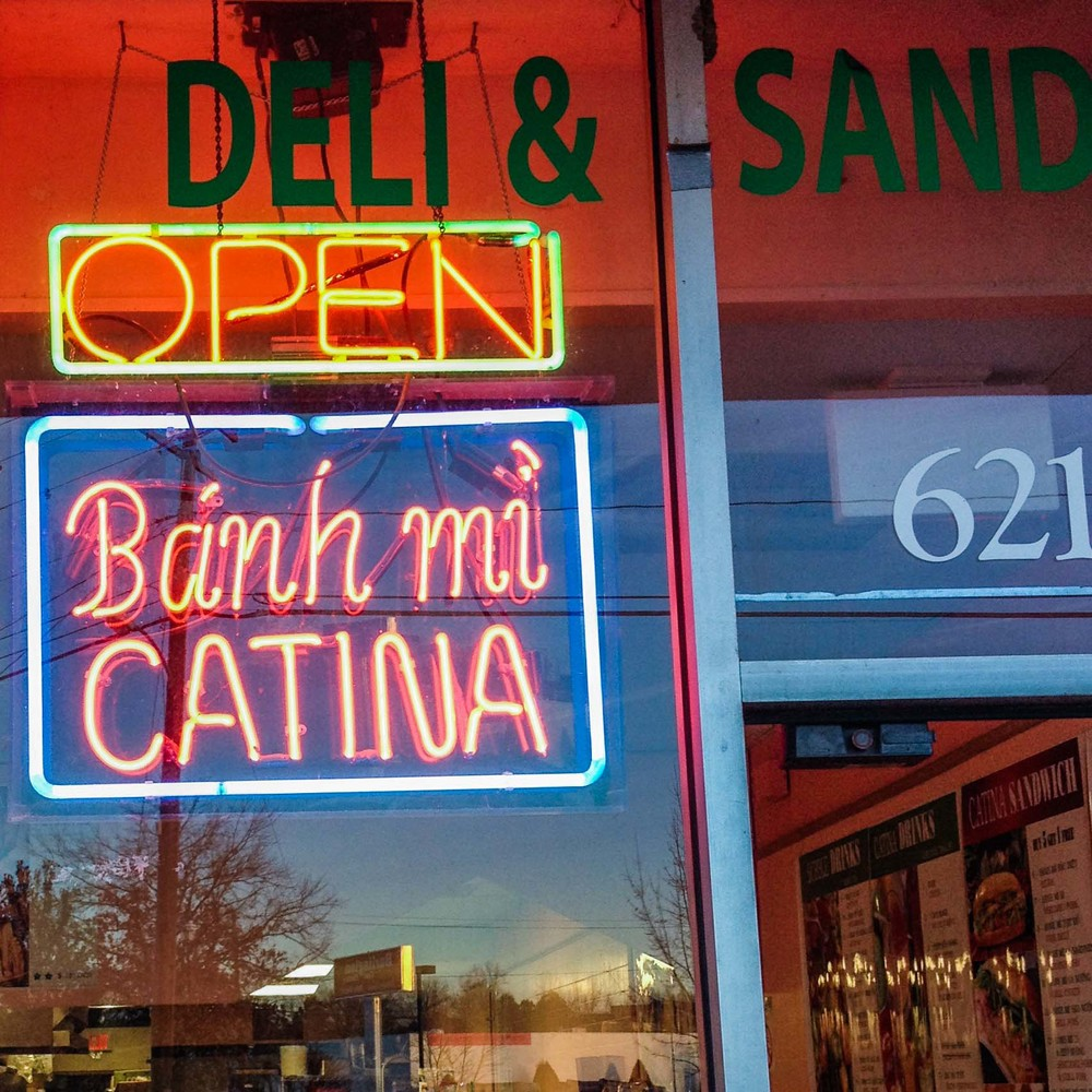 Had Vietnamese banh mi sandwiches for lunch from Catina.