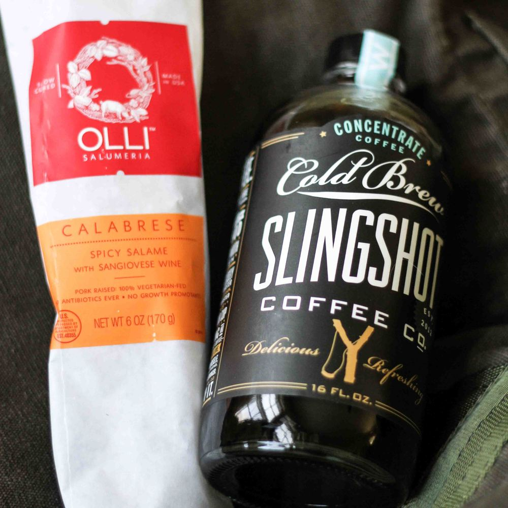 While I was there I picked up Olli Salami and Slingshot cold-brew coffee concentrate.
