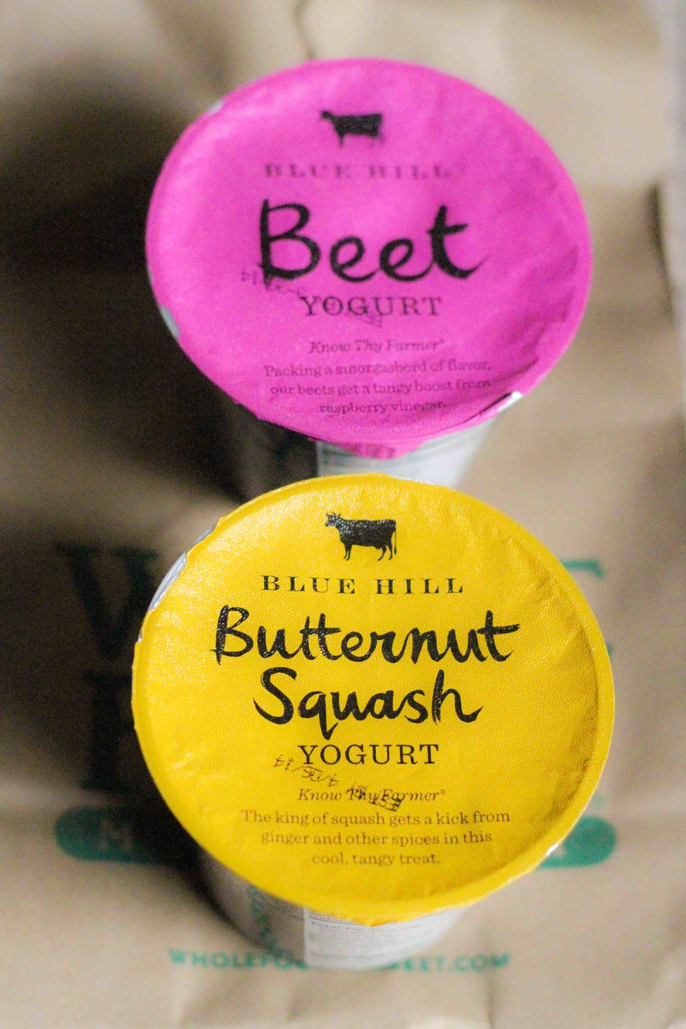 I've been hearing about Blue Hill's savory/sweet yogurts for a while now.  I was excited to find them at my local Whole Foods.