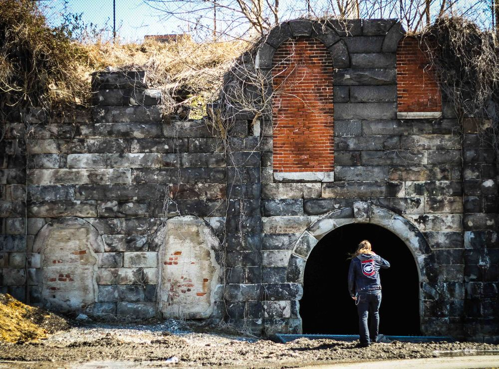 This beer cave is located in Rocketts Landing next to the James River. This cave belonged to the James River Steam Brewery, which was founded by D.G Yuengling Jr, in the 1860's.