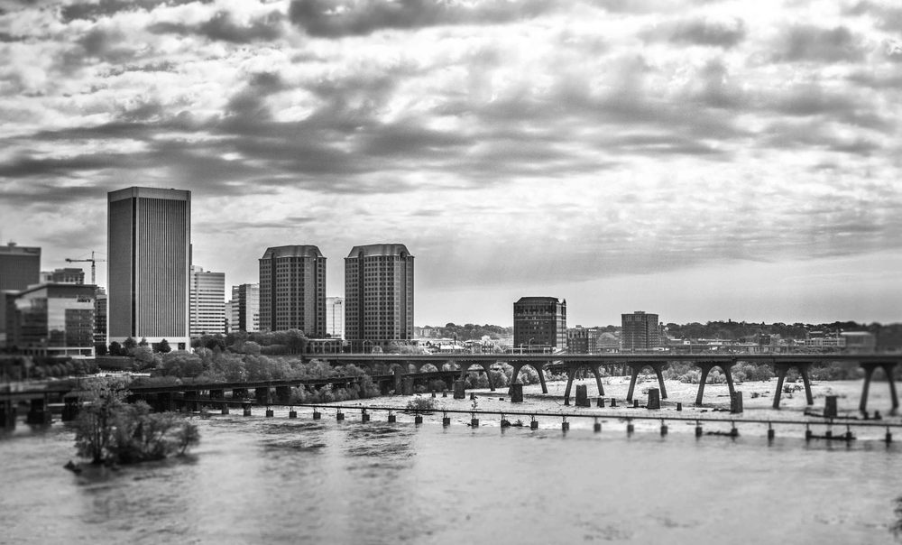 I felt compelled to pull over on the Belvidere Bridge to get a shot of downtown Richmond overlooking the James River.